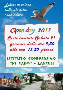 Open day '17(locandina)